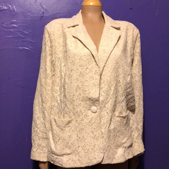 f0ef6522c320 Dress Barn Jackets & Coats | Dressbarn 3x Ivory Lace Jacket Gorgeous ...